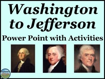 Post-Revolutionary War America Washington to Jefferson Power Point
