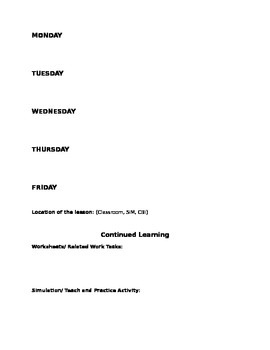 Post-Secondary Lesson Plan Template