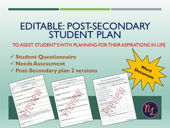Post-Secondary Plan for Students