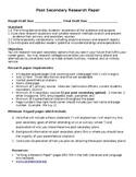 Informative Essay Post Secondary Research Project
