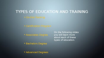 Post-Secondary Training - Part 2 - Types of Education