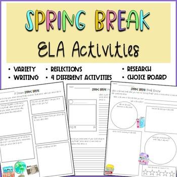 Spring Break ELA Activities (6th-12th Grade)