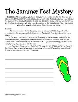 Post-Summer Writing Task/Ice-Breaker