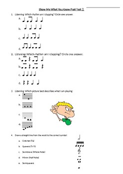 Music Post-Test Baseline Assessment--British