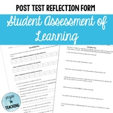 Post-Test Reflection for Student Assessment of Learning