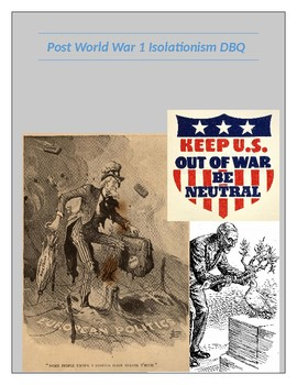 Post WW1 Foreign Policy and Isolationism