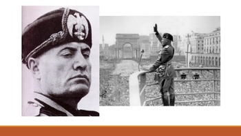 Post WW1 Italy and the Rise of Mussolini Powerpoint