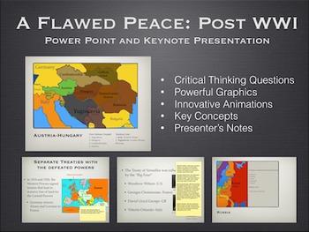 "Post World War 1 ""A Flawed Peace"" Power Point / Keynote Presentation"