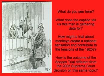 Post WWI Tensions PPt on Key Topics - KKK, Marcus Garvey, Scopes Trial