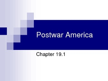 Post WWII America