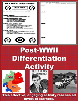 Post-WWII Differentiation Activity - Power to the Students!