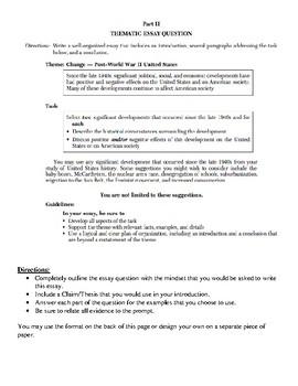Post WWII Essay Practice