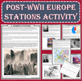 Post-WWII Europe Primary Source Stations Activity (PDF and Google Docs)