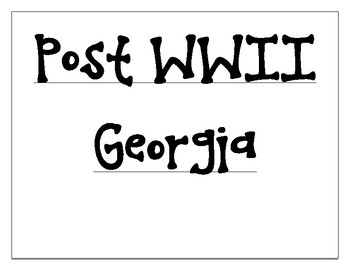 Post WWII Georgia Word Wall