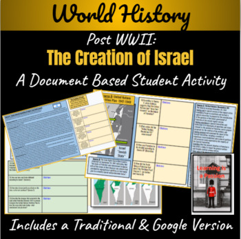 Post WWII: The Creation of Israel & Consequences ~A Document Based Activity~