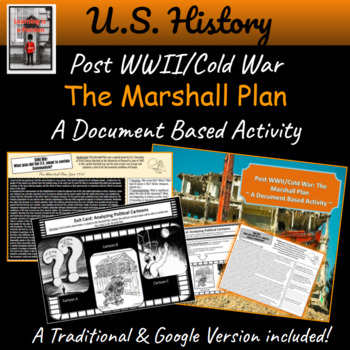 Post WWII/Cold War: The Marshall Plan  ~ A Document Based Activity ~