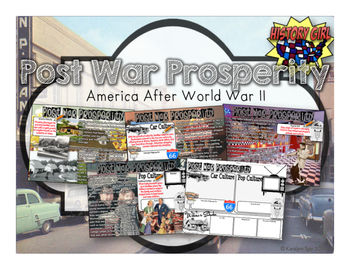Post War Prosperity PowerPoint and Student Infographic Notes