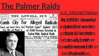 Post-World War 1 (Demobilization, Red Scare, Palmer Raids)