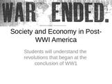 Post World War 1- Society and Economy