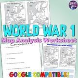 World War I Map Analysis Worksheet