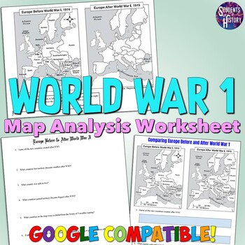 world war i map analysis worksheet by students of history teachers pay teachers. Black Bedroom Furniture Sets. Home Design Ideas