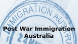Post World War II Immigration Australia PPT