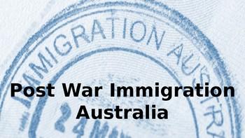 Post World War II Immigration Australia PPT