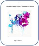 War Changes Europe's Boundaries: 1914 -1945