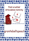 Post a Letter Articulation Activity for 's', 'sh' and 'f'