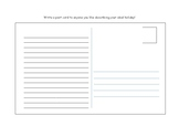 Post card holiday template