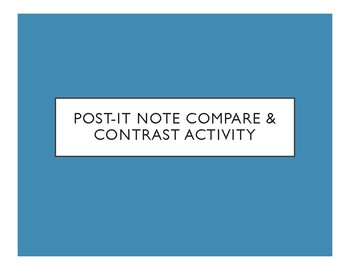 Post-it Note Compare & Contrast Activity (Any Content!)