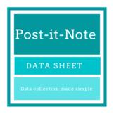 Post-it Note Data Sheet