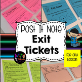 Post-it Note EXIT TICKETS for any lesson