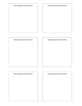 Post-it®  Note Question Printing Template