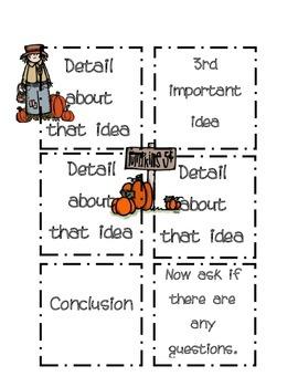 Post it Note Writing/Presentation Planner-Pumpkin Edition