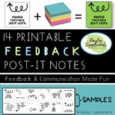 Post it Notes ARROW FEEDBACK for Communication & Instructi