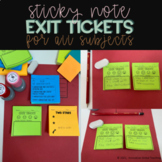 Post-it Notes Exit Tickets - Printables
