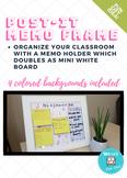 Frameable To Do List & Post it Organizer (4 colors) - Editable
