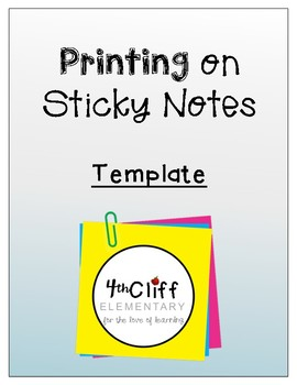 Post-it Printing Template