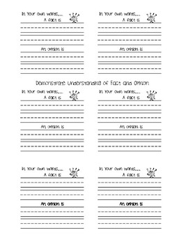 Post-it Stop and Checks for Primary Grades