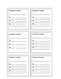Post it template for Guided Reading