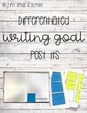 Post it writing goals