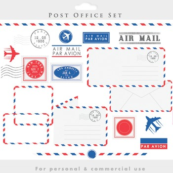Post office clipart - stamps mail clip art postal postage