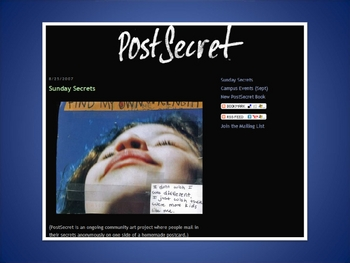 PostSecret Lesson Plan PowerPoint