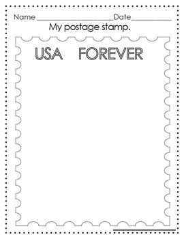 Postage Stamp Art Page