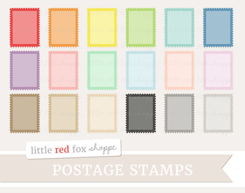 Postage Stamp Clipart; Mail, Post Office, Letter