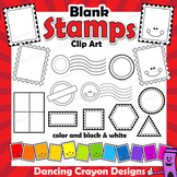 Postage Stamps Clip Art Bundle - Blank Templates and Overlays