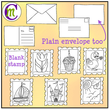 Postage Stamps Clipart