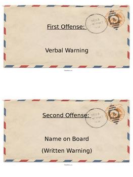 Postage Themed Behavior Clip Chart