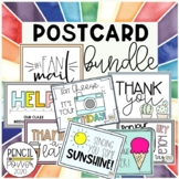Postcard BUNDLE: Parent/Gen. Use & Student sets | Editable